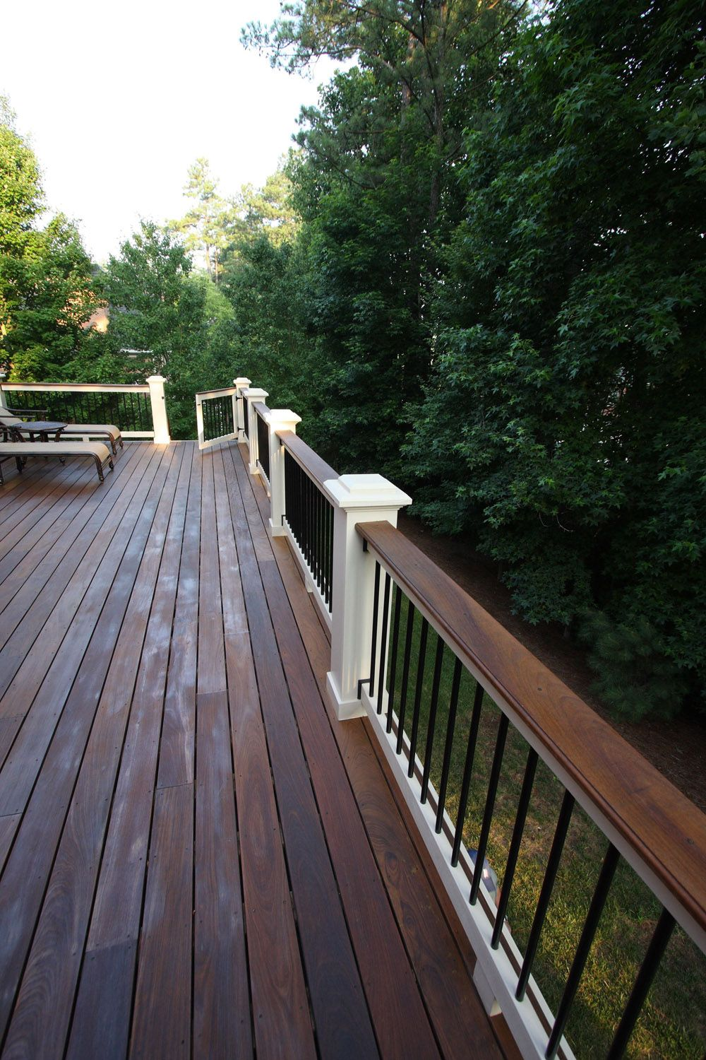 Decksouth Ipe Custom Deck Handrail In Atlanta Ga