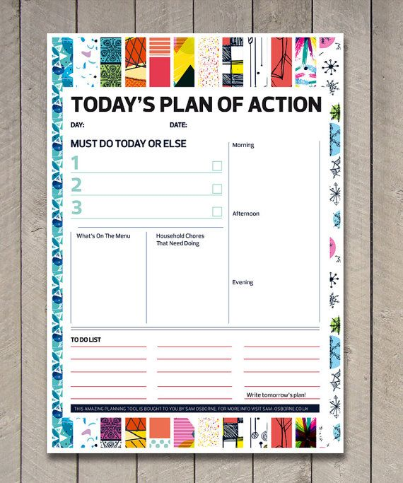 Printable Daily Schedule, Student Planner, To Do List, Productivity ...