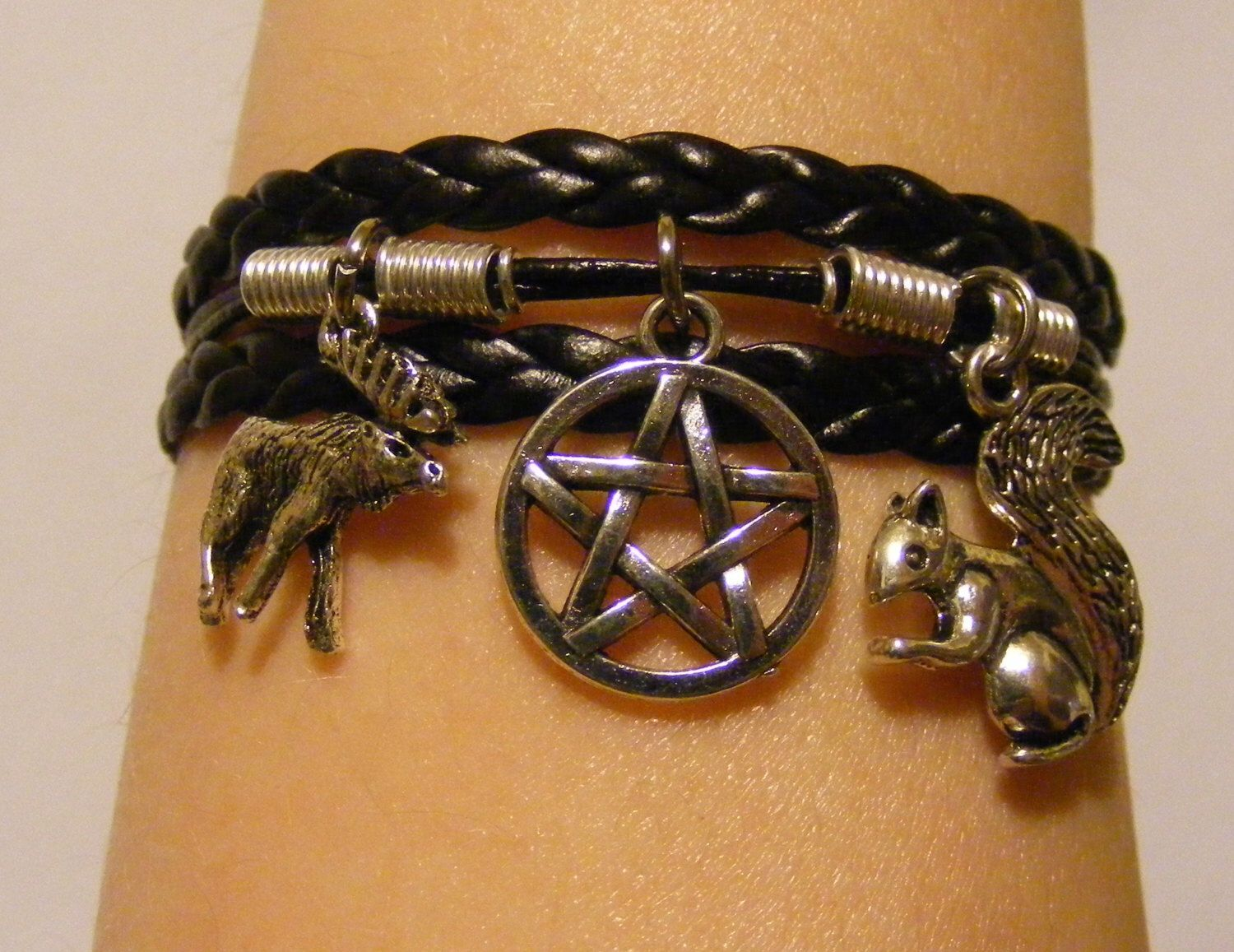 Supernatural Bracelet Jewelry Moose And Squirrel