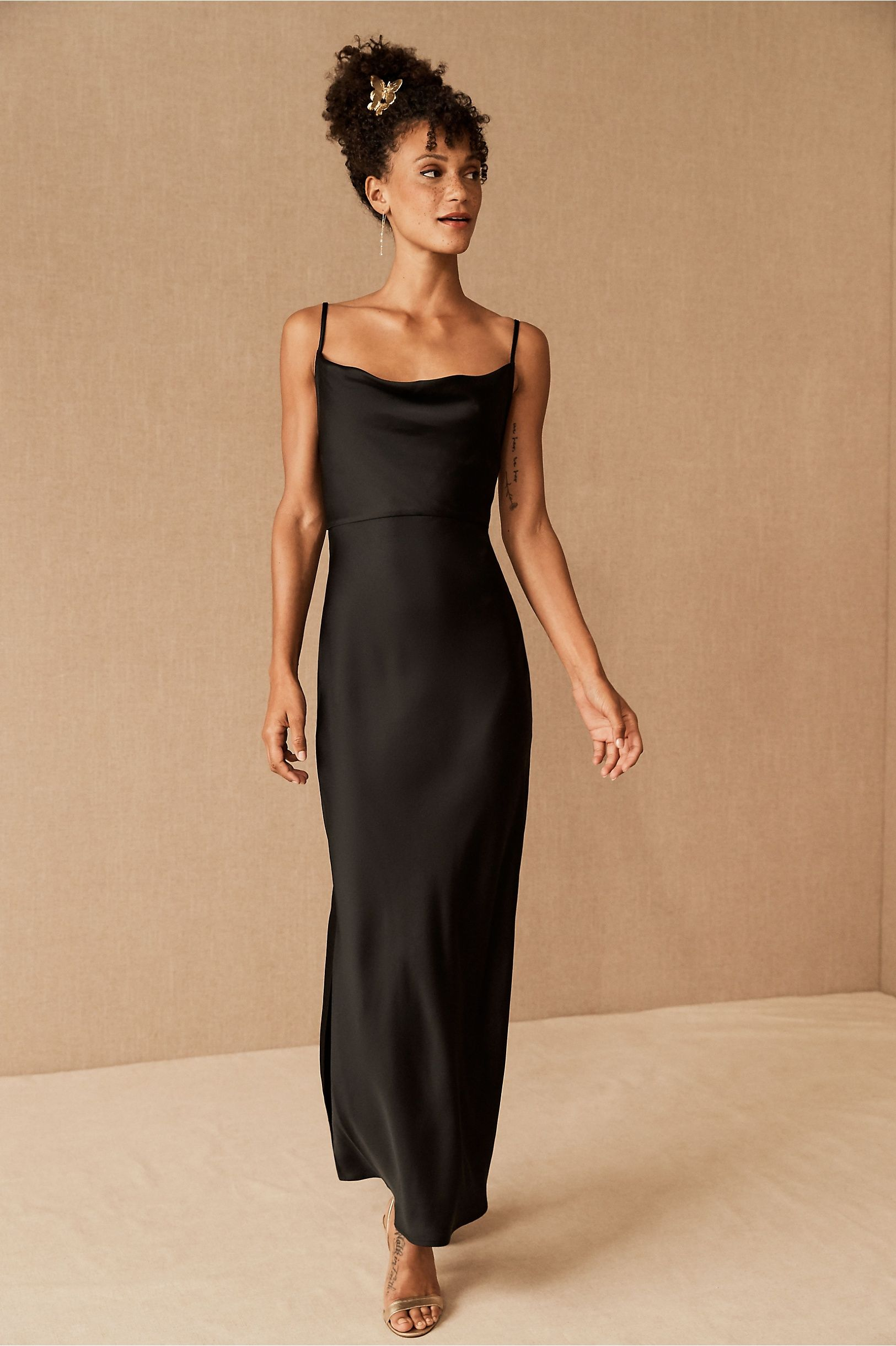 Cali Satin Charmeuse Midi Dress In 2021 Black Satin Bridesmaid Dress Black Bridesmaid Dresses Black Bridesmaid Dresses Long [ 2440 x 1625 Pixel ]