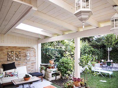 Porches y garajes de madera para en madrid y toledo for Garajes chalets