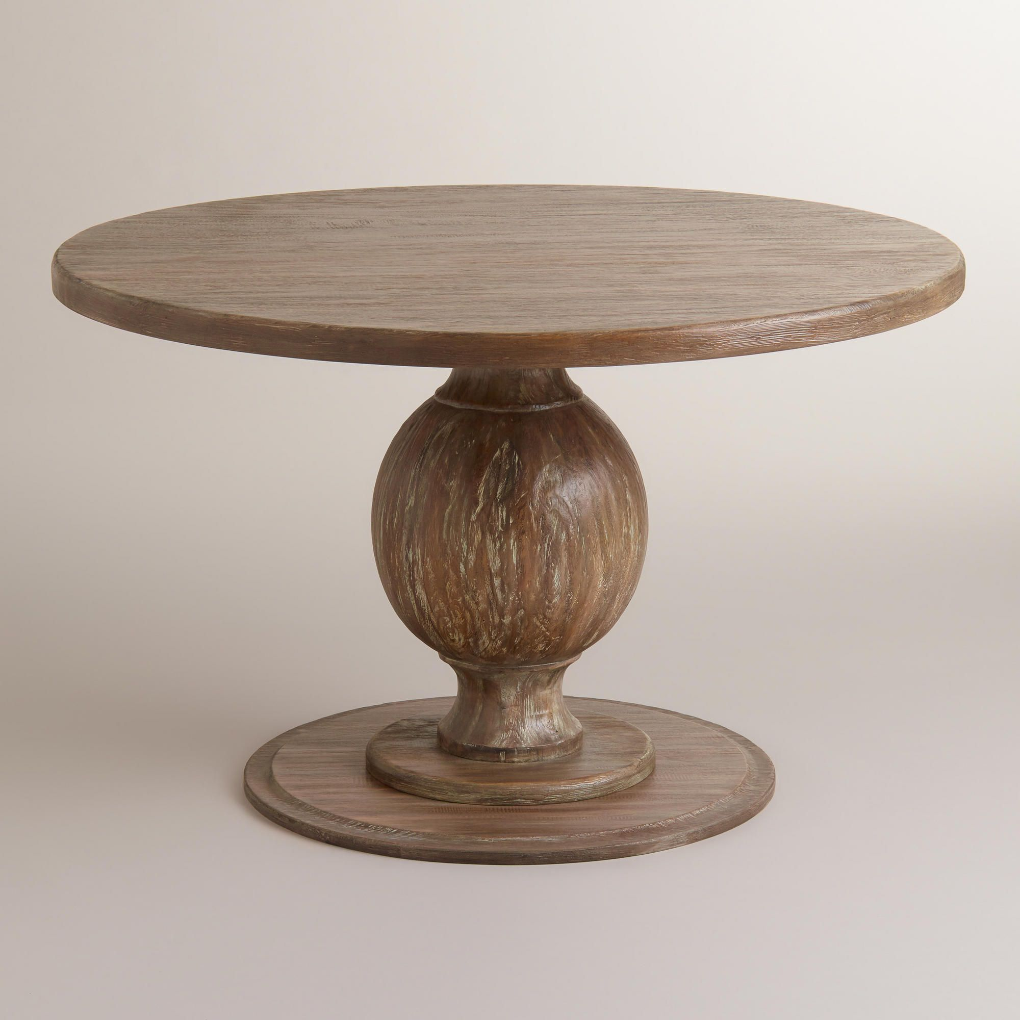 Round Blonde Wood Plank Arcadia Dining Table Dining Table