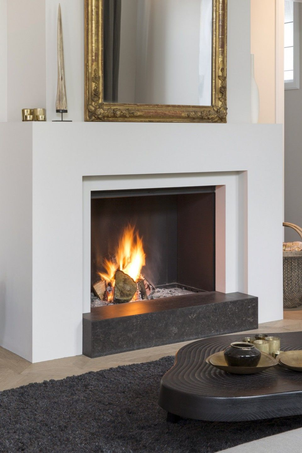 Luxe wooninspiratie met open haard | woonkamer ideeën | living room ...