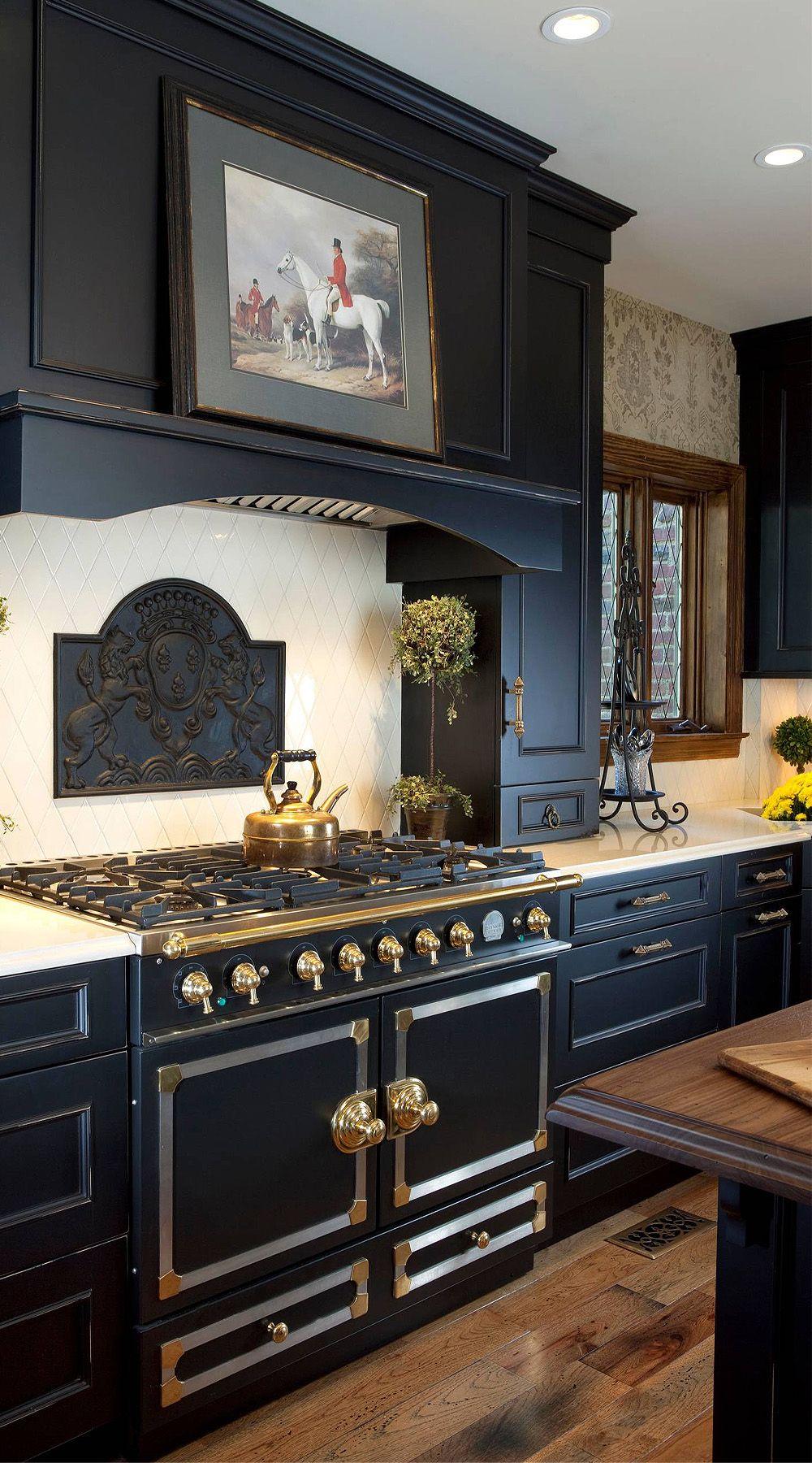 39 Black Kitchen Cabinet Ideas Entering The Dark Side In 2020 Black Kitchens Black Kitchen Cabinets Shabby Chic Kitchen
