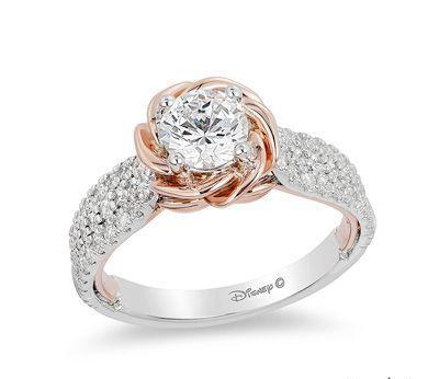 Belle Inspired Ring Pandora Rings Disney Engagement Rings Princess Engagement Ring Wedding Rings Unique