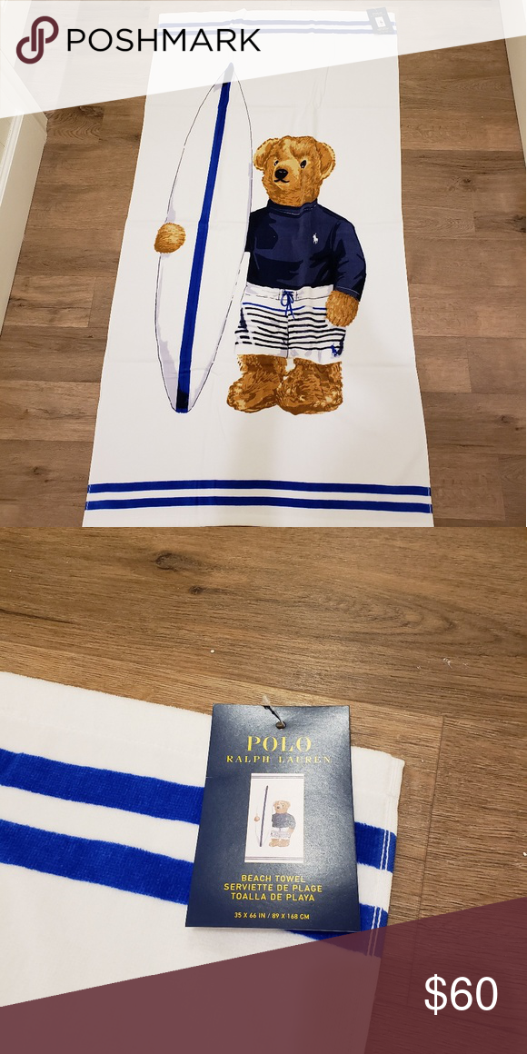 Polo Ralph Lauren Limited Edition Beach Towel Nwt With Images