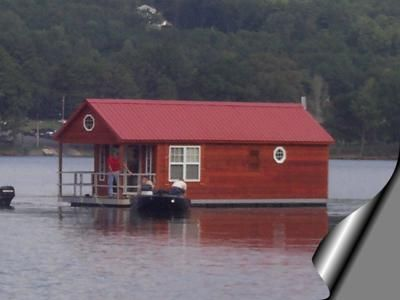 Build Or Buy A Small Pontoon Floating Houseboat