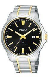 Pulsar Dress Men's Quartz Watch PS9109X Pulsar. $52.39. date. Band stainless steel with two tone. 3 hand. Case stainless steel. Save 52%!