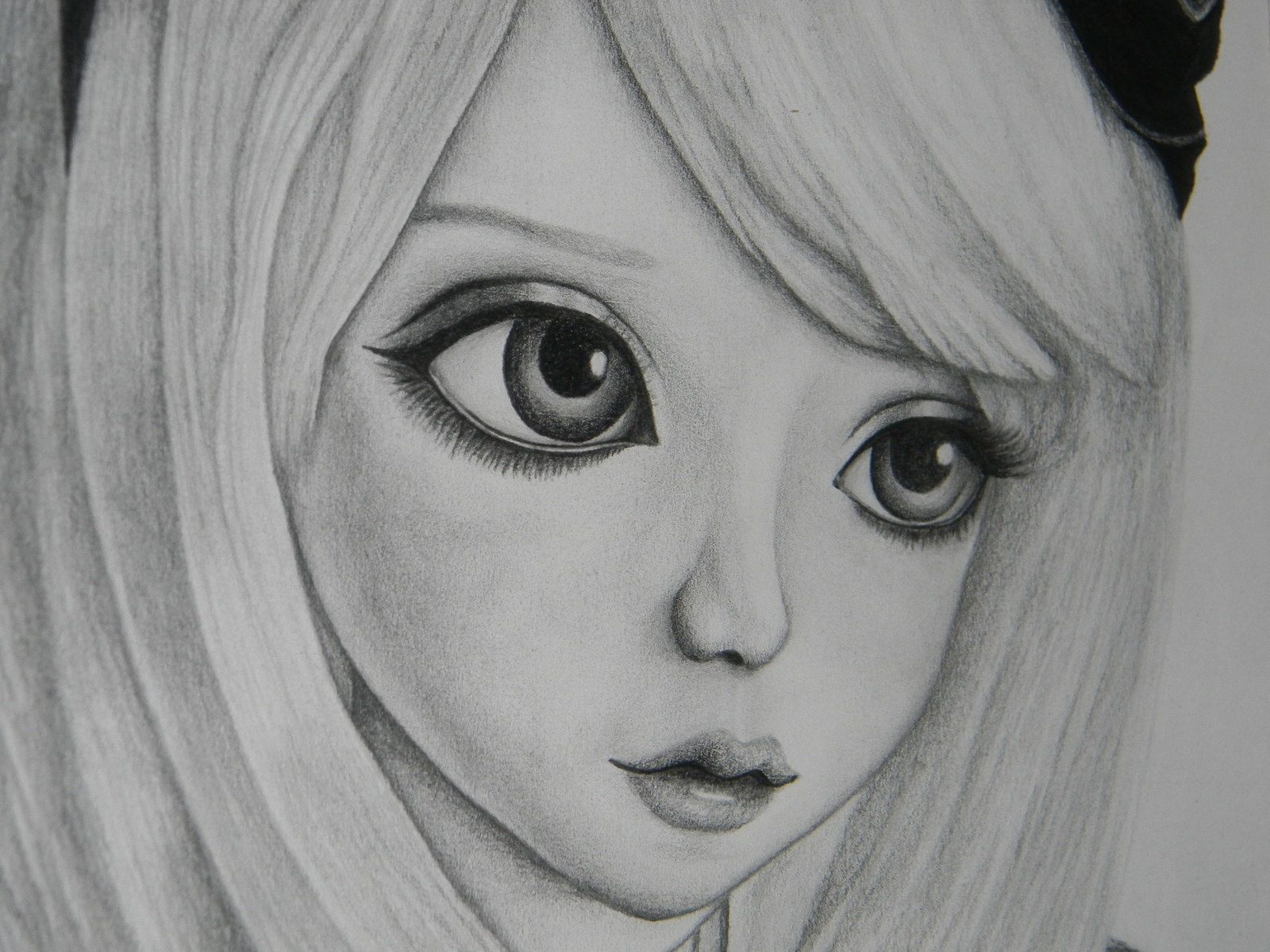 Portrait jeune fille steampunk dessin crayon mine de - Dessin de jeune fille ...