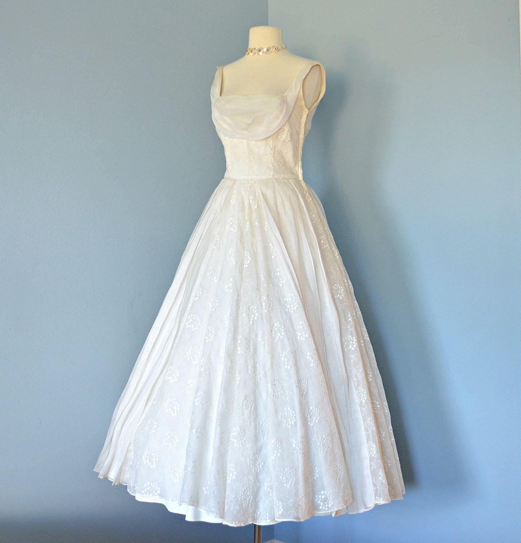 Vintage s wedding dressbeautiful ceil chapman ballerina