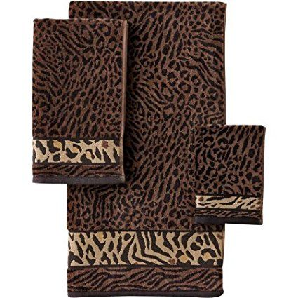 Better Homes And Gardens Animal Decorative Bath Towel Collection - Zebra bath towels for small bathroom ideas