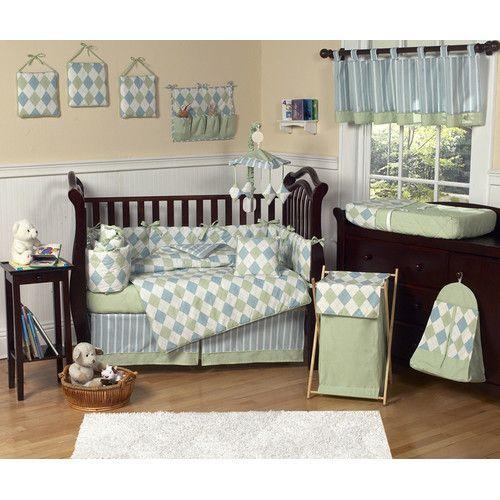 Found It At Wayfair Argyle Blue 9 Piece Crib Bedding Set Crib Bedding Sets Baby Bedding Sets Blue Crib Bedding