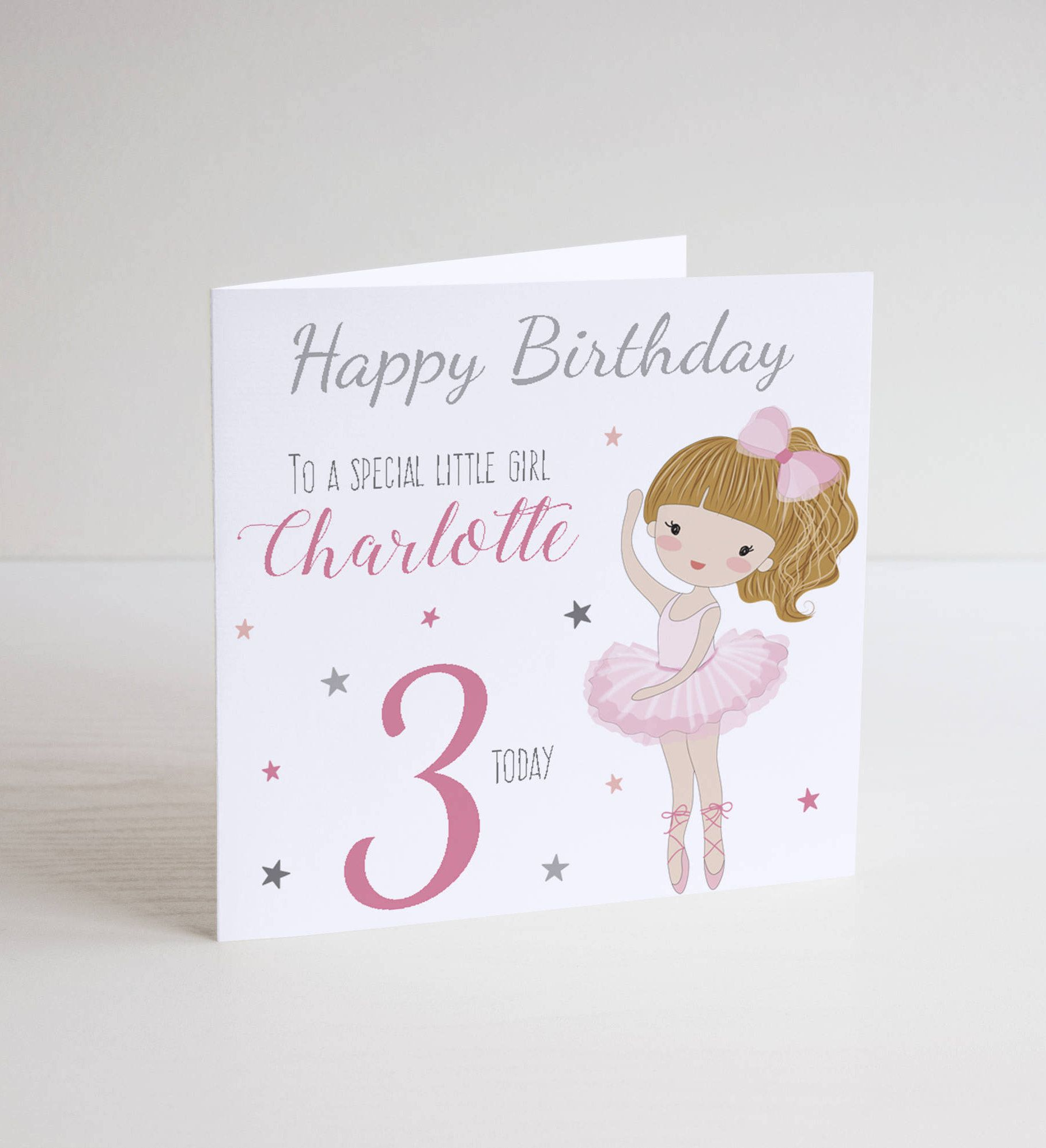 Personalised Ballerina Ballet Birthday Card Girl Greeting Dancer Daughter Sister Niece 1st 2nd 3rd 4th 5th 6th 7th 8th By Owltreedesigns22