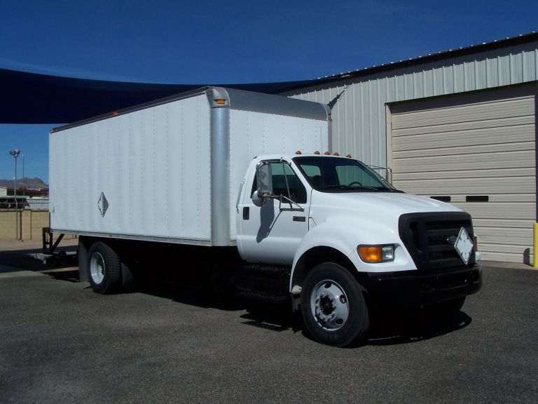 2005 Ford F750 Box Truck 5 9 Cummins Turbo Diesel Allison Auto Transmission Air Conditioning Air Brakes A Trucks Commercial Vehicle Cummins Turbo Diesel