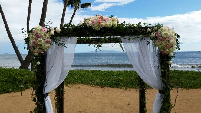 Wedding canopy at Sugar Beach Events