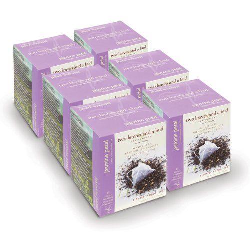two leaves and a bud tea | Two Leaves and a Bud Jasmine Petal Green Tea, Tea Bags, 15-Count Boxes ...