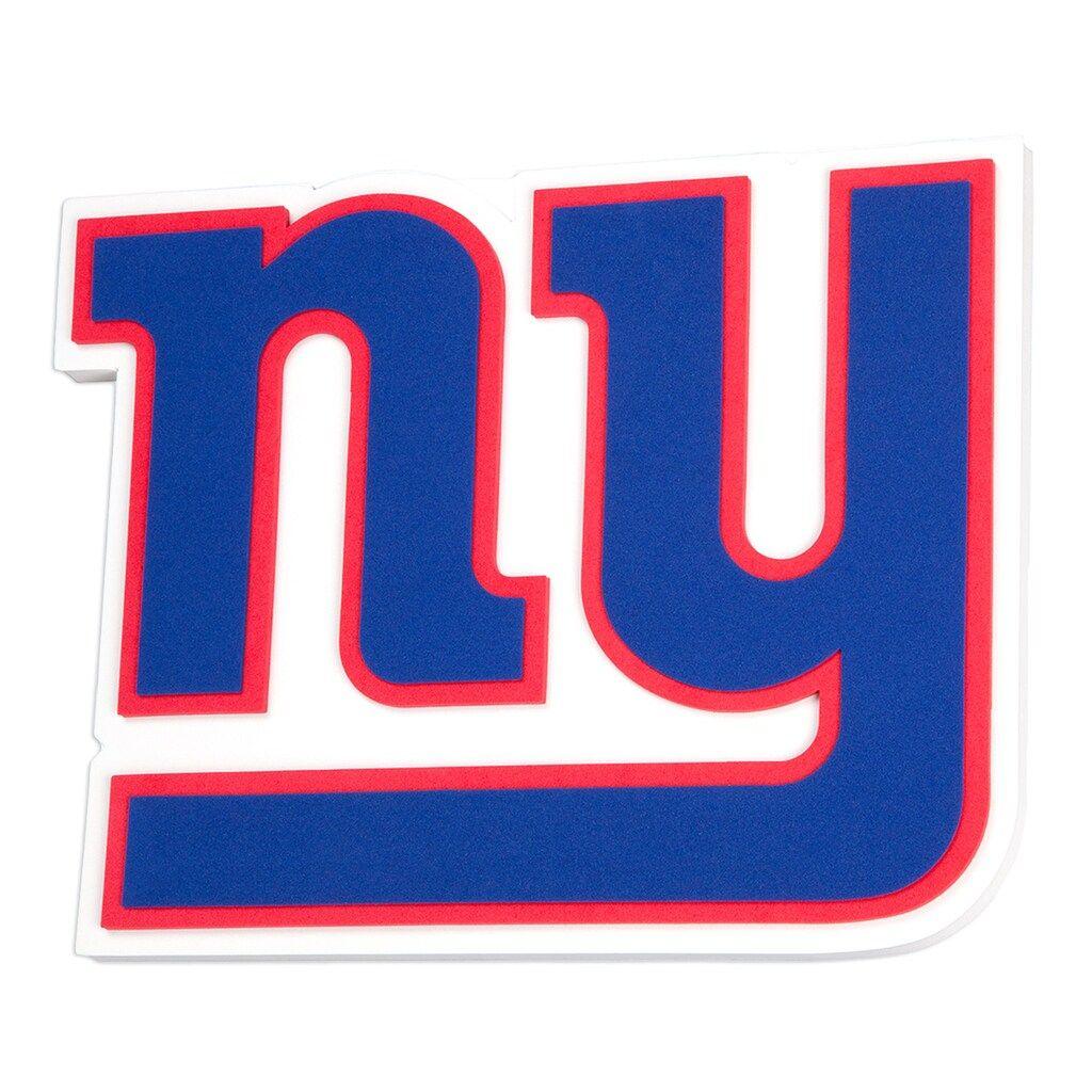 New York Giants 3d Fan Foam Logo Sign 20x16x16