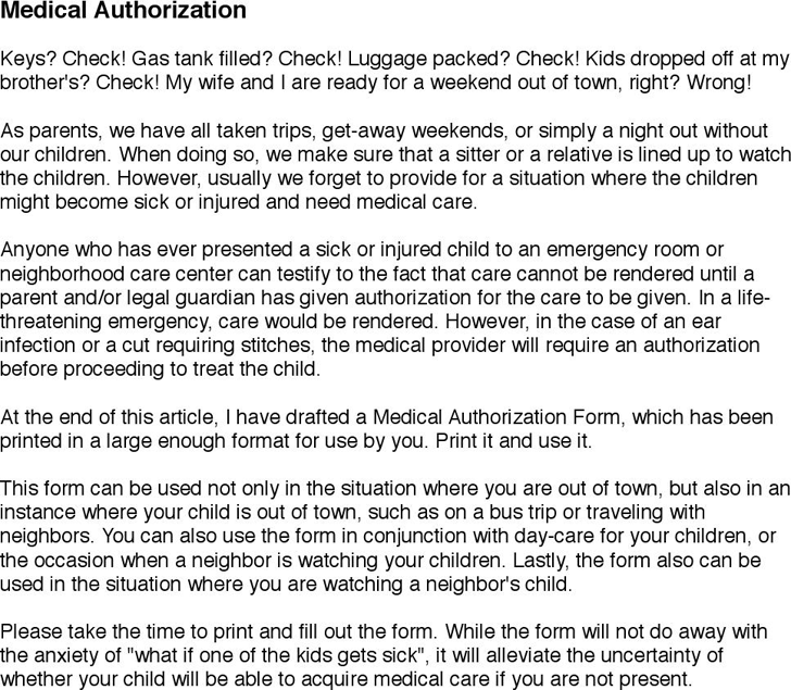 Medical Authorization Download The Free Printable Basic Blank Medical Form Template Or Waiver In Word Excel Or Pdf To Be In 2020 Medical Free Medical Emergency Room