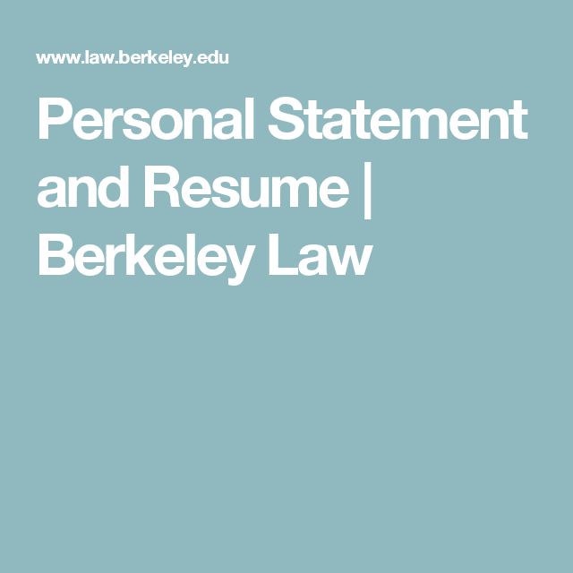 Personal statement samples berkeley