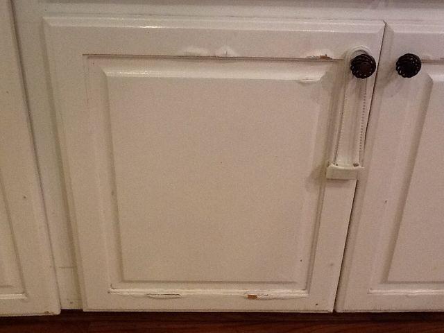 Water Damage On Press Wood Kitchen Cabinets Laminate Kitchen