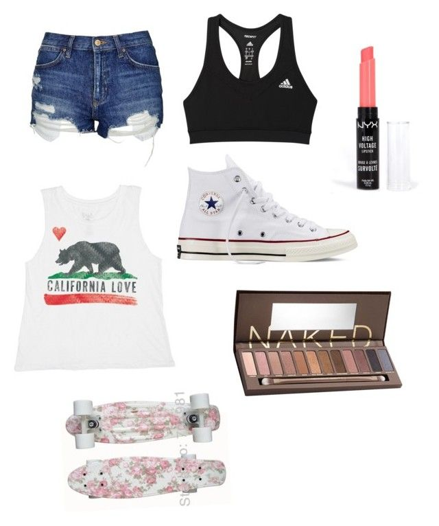 """Untitled #28"" by jemimacummings on Polyvore featuring Billabong, Converse, Topshop, adidas, Urban Decay and NYX"