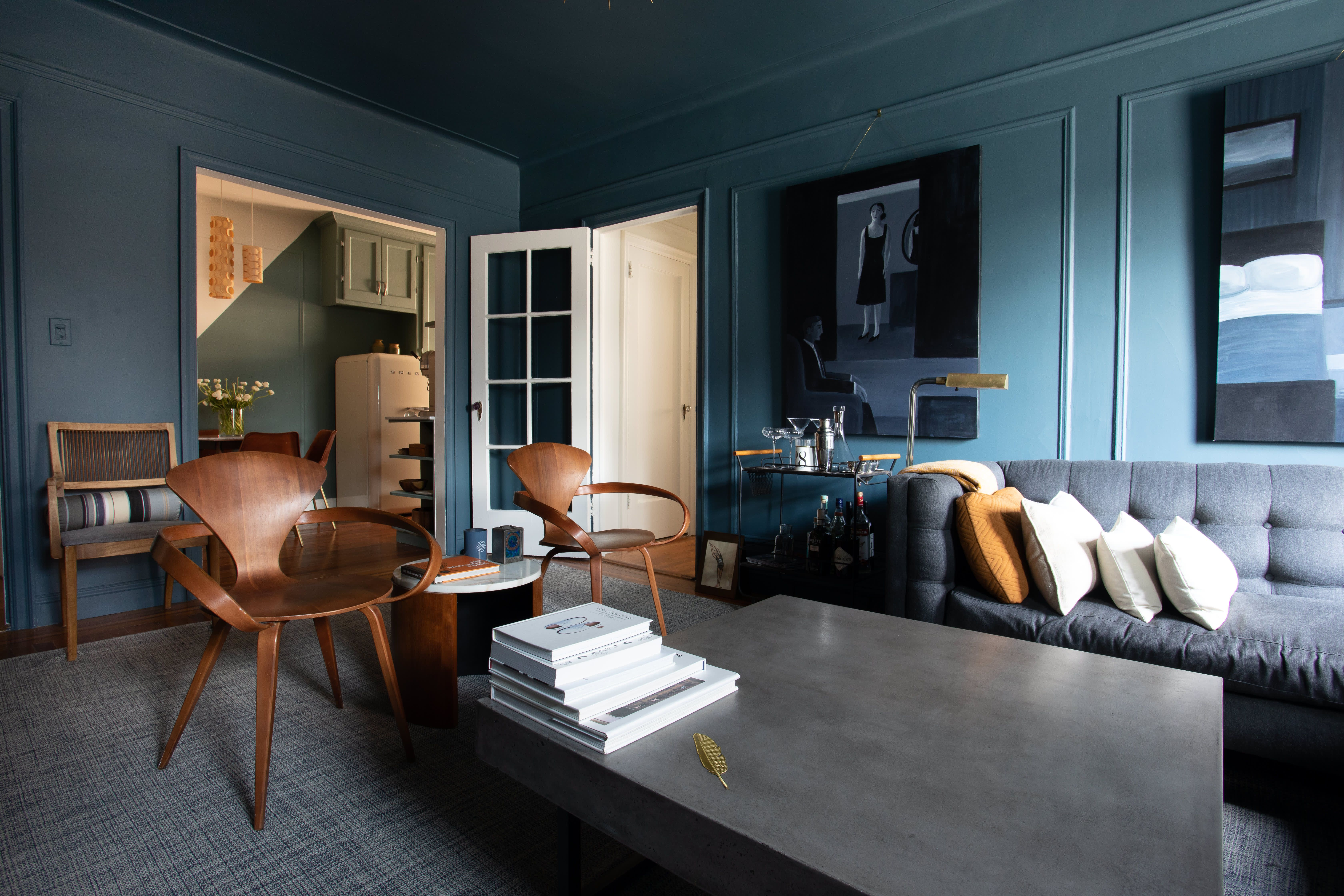 hoteliers turn a cozy nyc apartment into a moody hygge on hygge wall decor id=70096