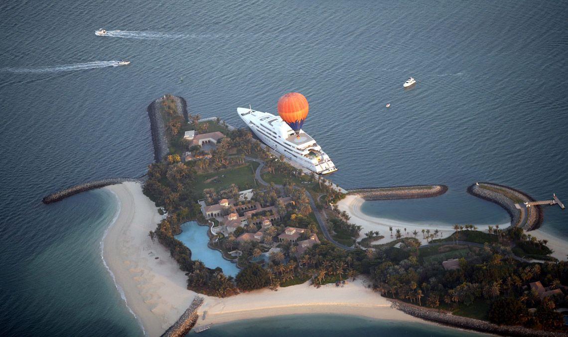 De balão sobre o Dubai - JN