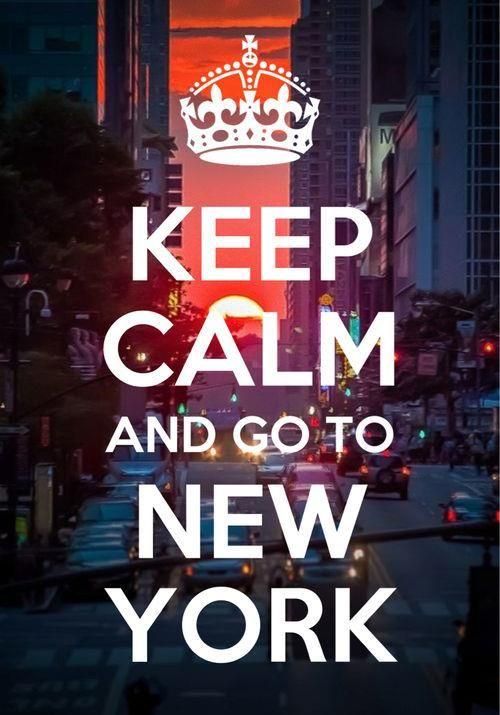 – Fridge Magnet keep Calm And Visit NYC New York City