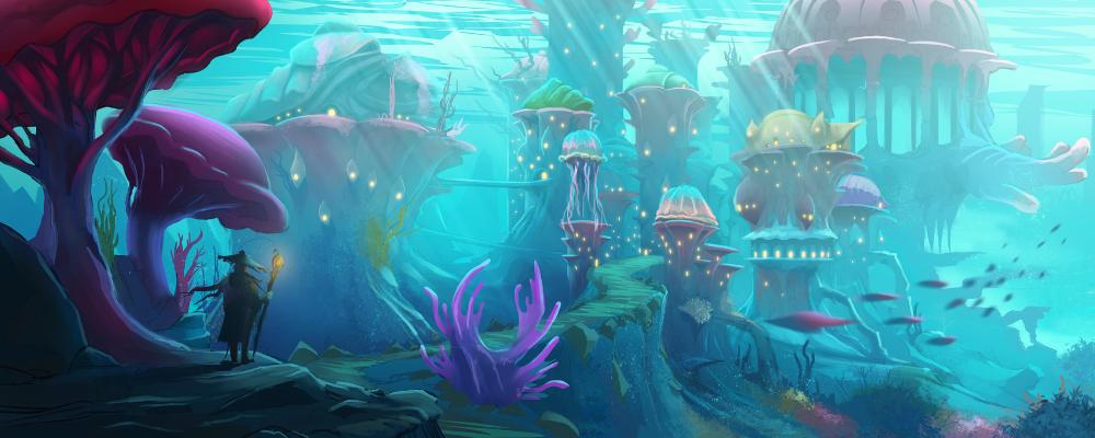 Artstation Underwater City Concept Art Francois Dumoulin Fantasy Concept Art Underwater City Environment Concept Art