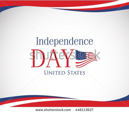 Vector Image Of American Flag Usa United States Symbol