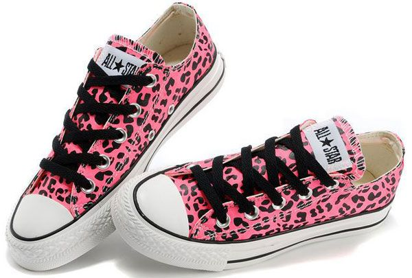 aa1614e555622 Hot Converse Leopard Print Sexy Pink Chuck Taylor All Star Womens ...