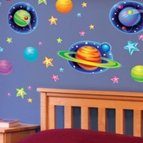 Main Street Wall Creations Jumbo Stickers   Planets Stars Part 71
