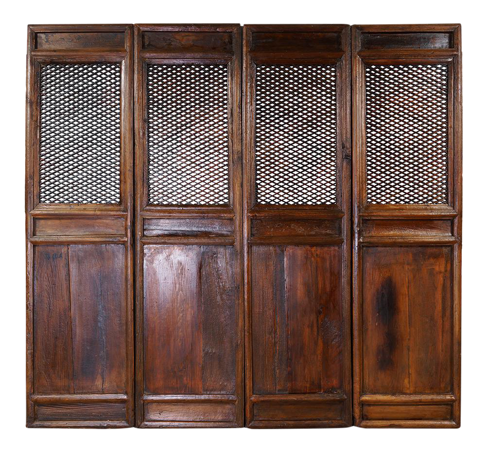 This Is A Set Of 4 Pcs Chinese Antique Open Carved Wooden Panels Which Used To Be The Interior Divider Door Pan Wooden Screen Carved Wooden Panels Room Divider