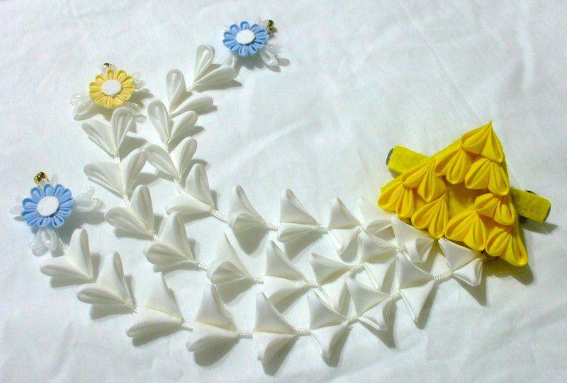 Triforce and fairies kanzashi clip by EruwaedhielElleth.deviantart.com on @DeviantArt
