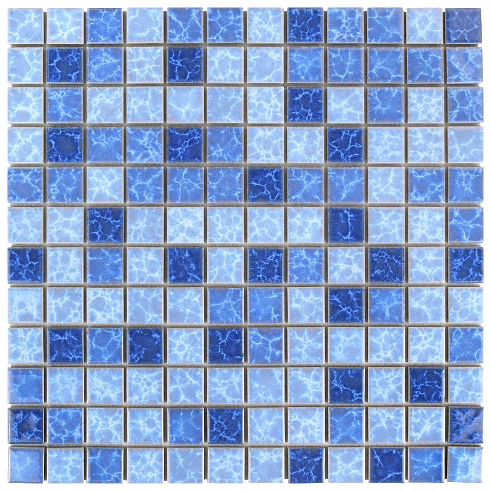 Watersplash Square Aegean 11 3 4 Inch X 11 3 4 Inch X 6 Mm Porcelain Mosaic Tile 9 79 Sq Ft Case Mosaic Tiles Ceramic Mosaic Tile Shower Floor Tile