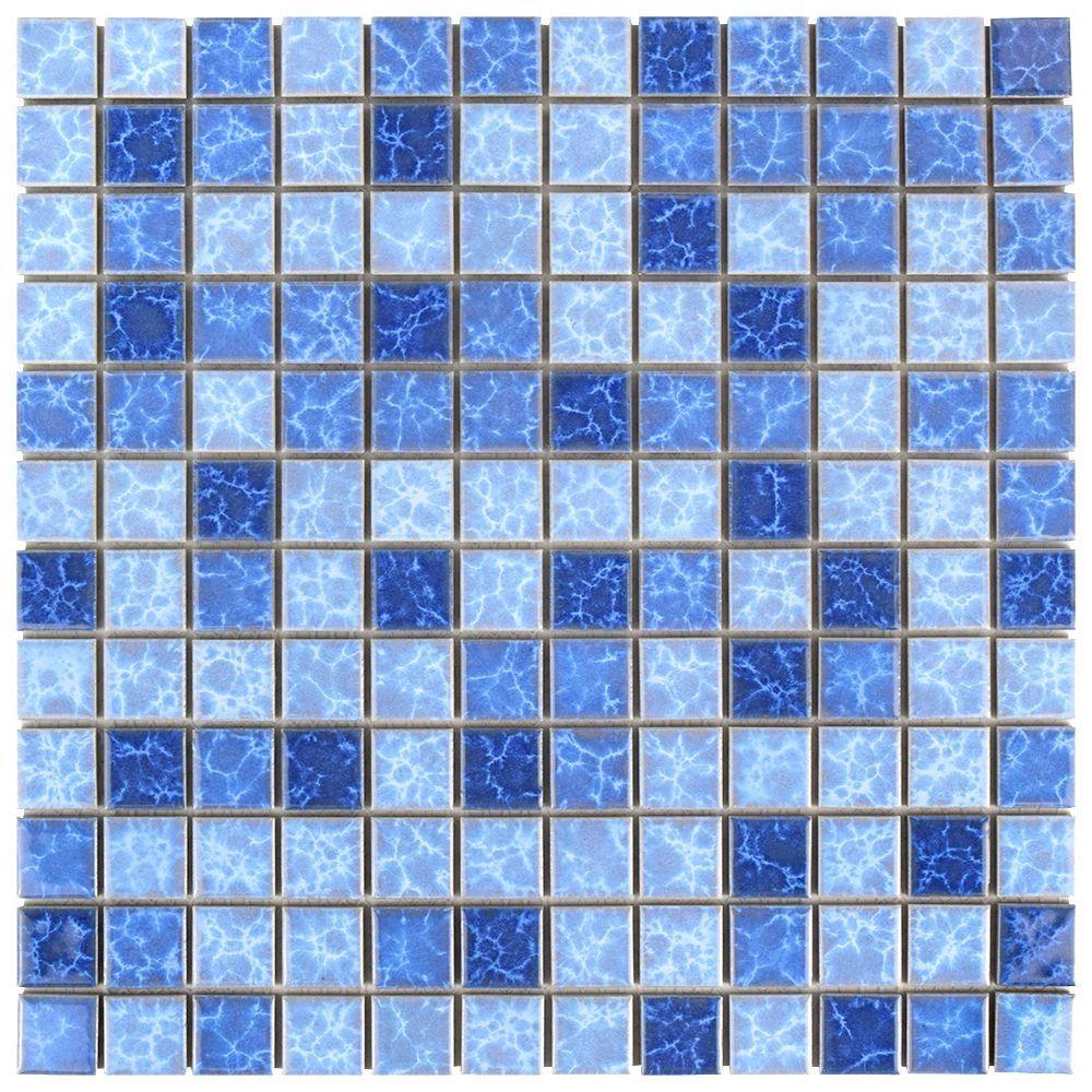 Watersplash Square Aegean 11 3 4 Inch X 11 3 4 Inch X 6 Mm Porcelain Mosaic Tile 9 79 Sq Ft Case Mosaic Tiles Ceramic Mosaic Tile Shower Floor Tile