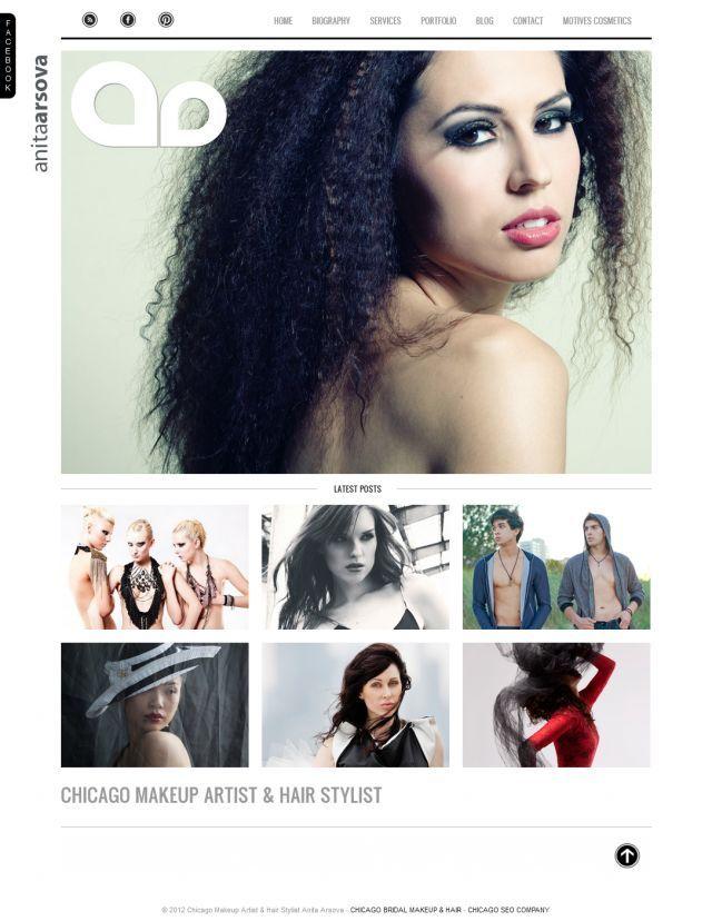 Make-Up Artist Website | Fun | Pinterest | Website
