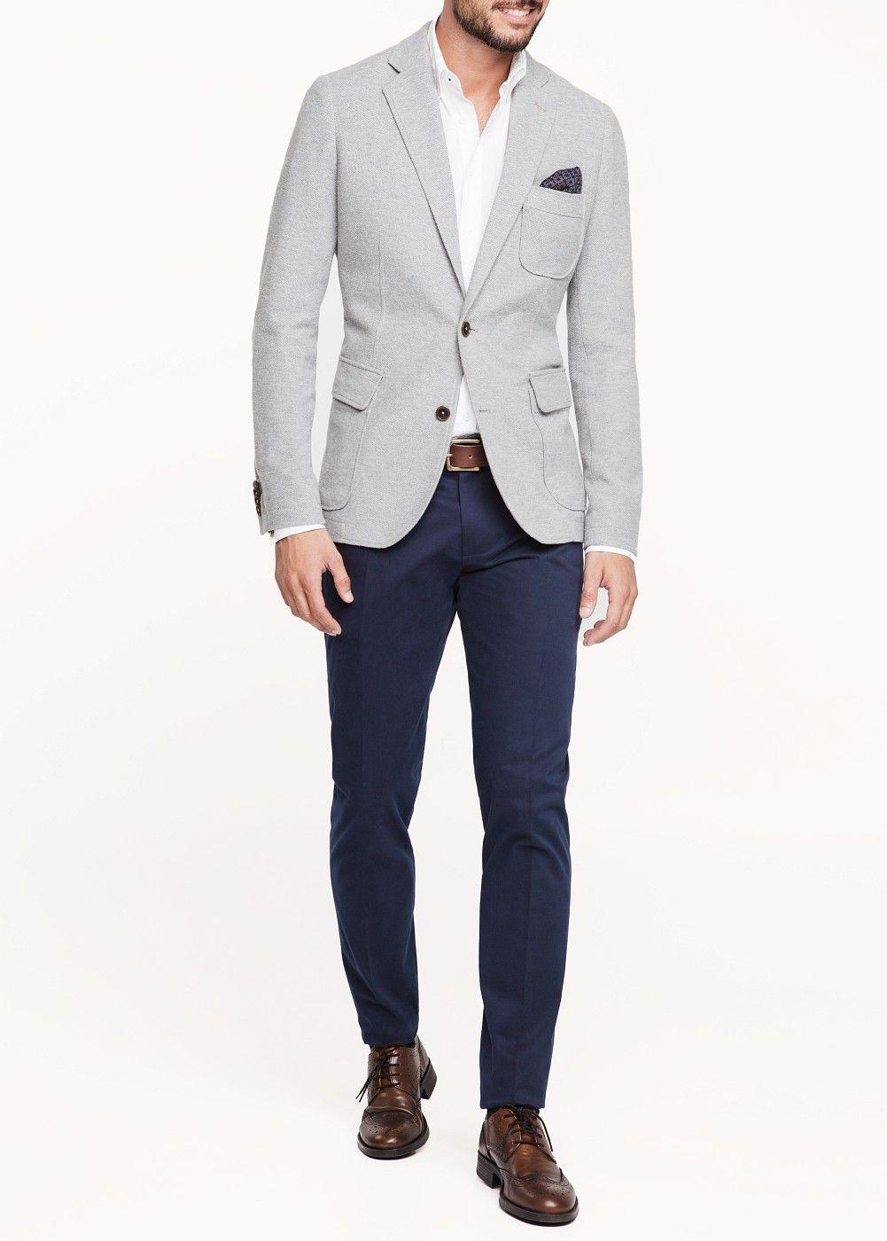 32d15b7c Veste piqué coton - Homme | Gent's fashion | Costumes décontracté ...