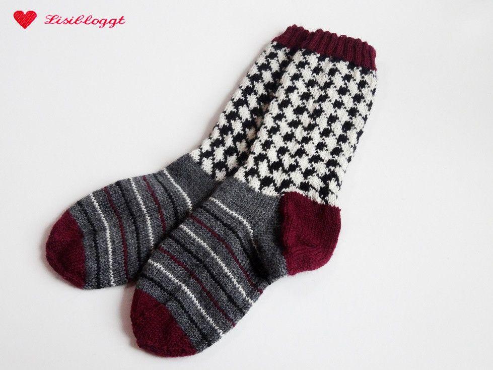 Anleitung Socken Mit Hahnentritt Muster Stricken Knit Socks