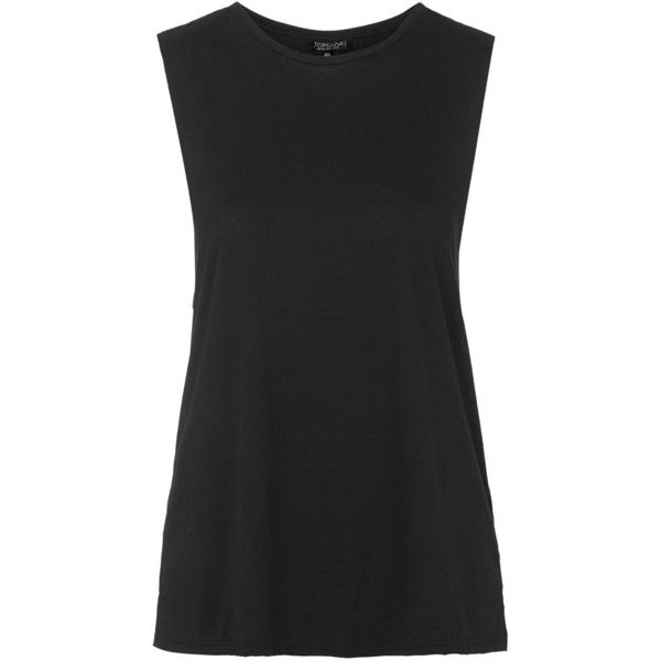 TOPSHOP Washed Tank Top ($15) ❤ liked on Polyvore featuring tops, shirts, tank tops, black, topshop shirt, bralet tops, lightweight shirt, jersey tank and bralette tops