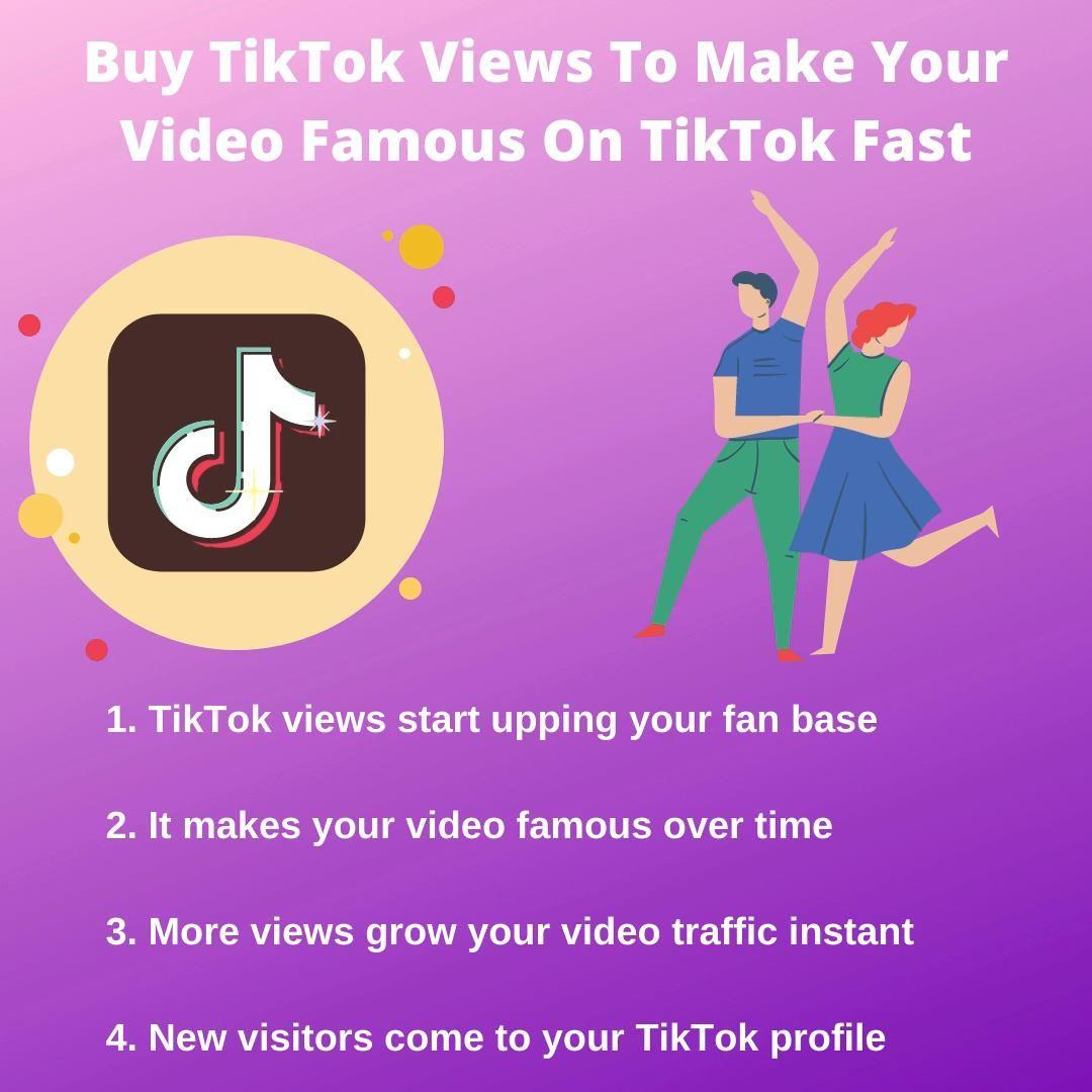 Buy Tiktok Views To Make Your Video Famous On Tiktok Fast Video Music Videos Music Playlist Workout Videos