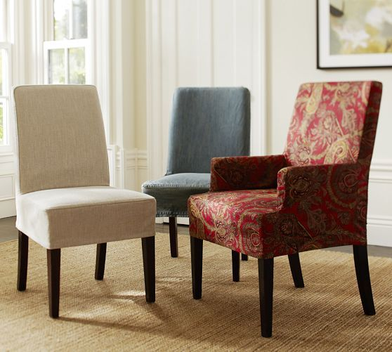 Great Room Napa Chair Slipcovers For Dining Table