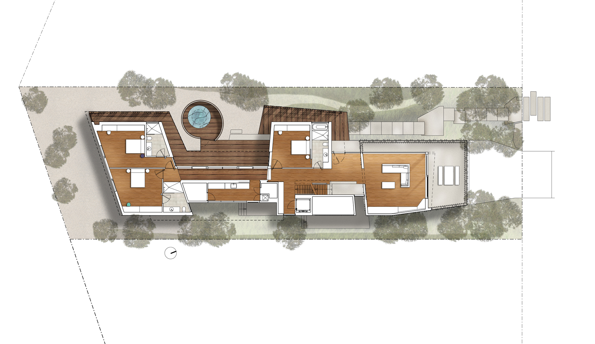 Ground Floor Plan Queenscliff Residence John Wardle