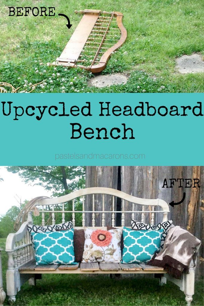 DIY Headboard Upcycled Bench- A Rustic Inspired Project! | Cabeceros ...
