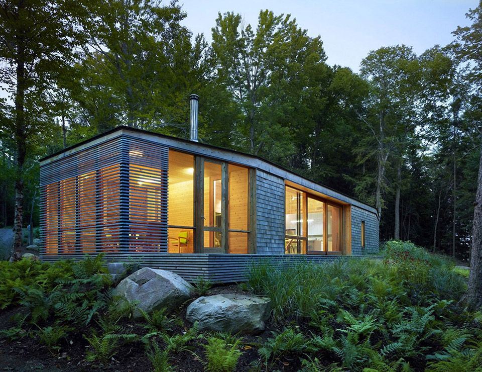A Small, Modern Cabin In Bracebridge, Ontario. Photos By Shai Gil. Designed
