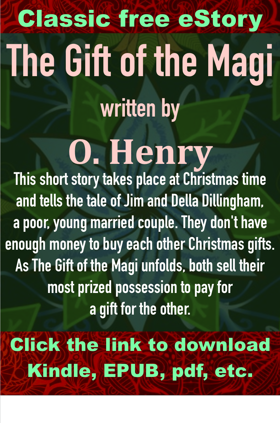 Classic free eStory, The Gift of the Magi written by O