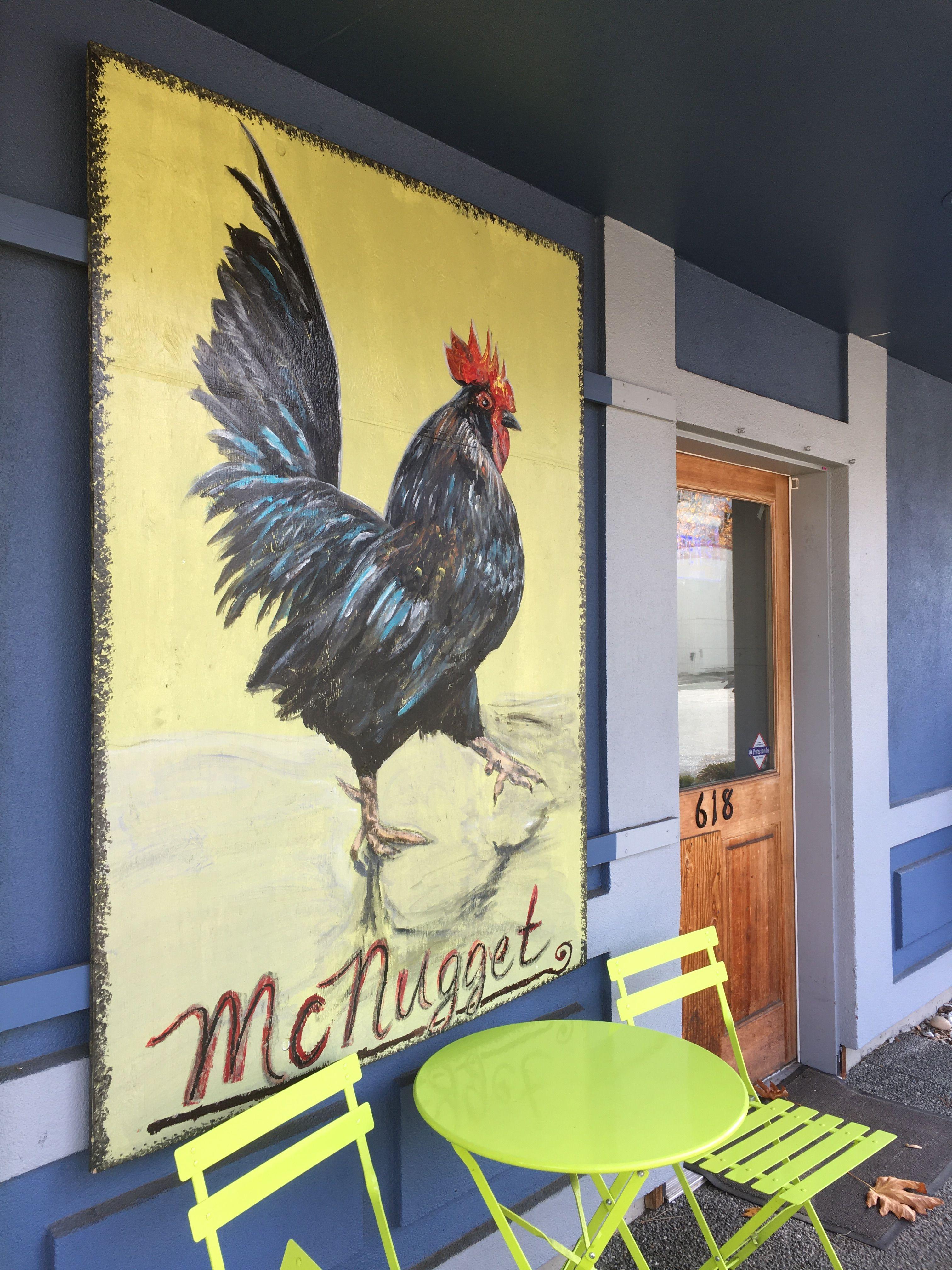 Mcnugget Street Art Rooster Mural
