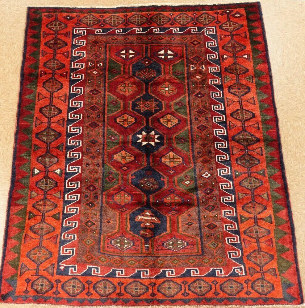 Luri Tribal Rug Hand Knotted Wool Rust Navy Oriental Carpet 5 8 X 6 7 Persianluritribalgeometric Tribal Rug Oriental Carpets Rugs