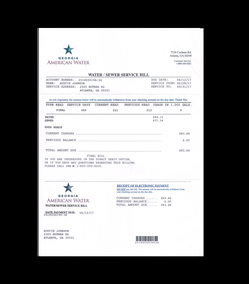 Utility Bill Proof Of Address Template Doctors Note Template Doctors Note Utility Bill