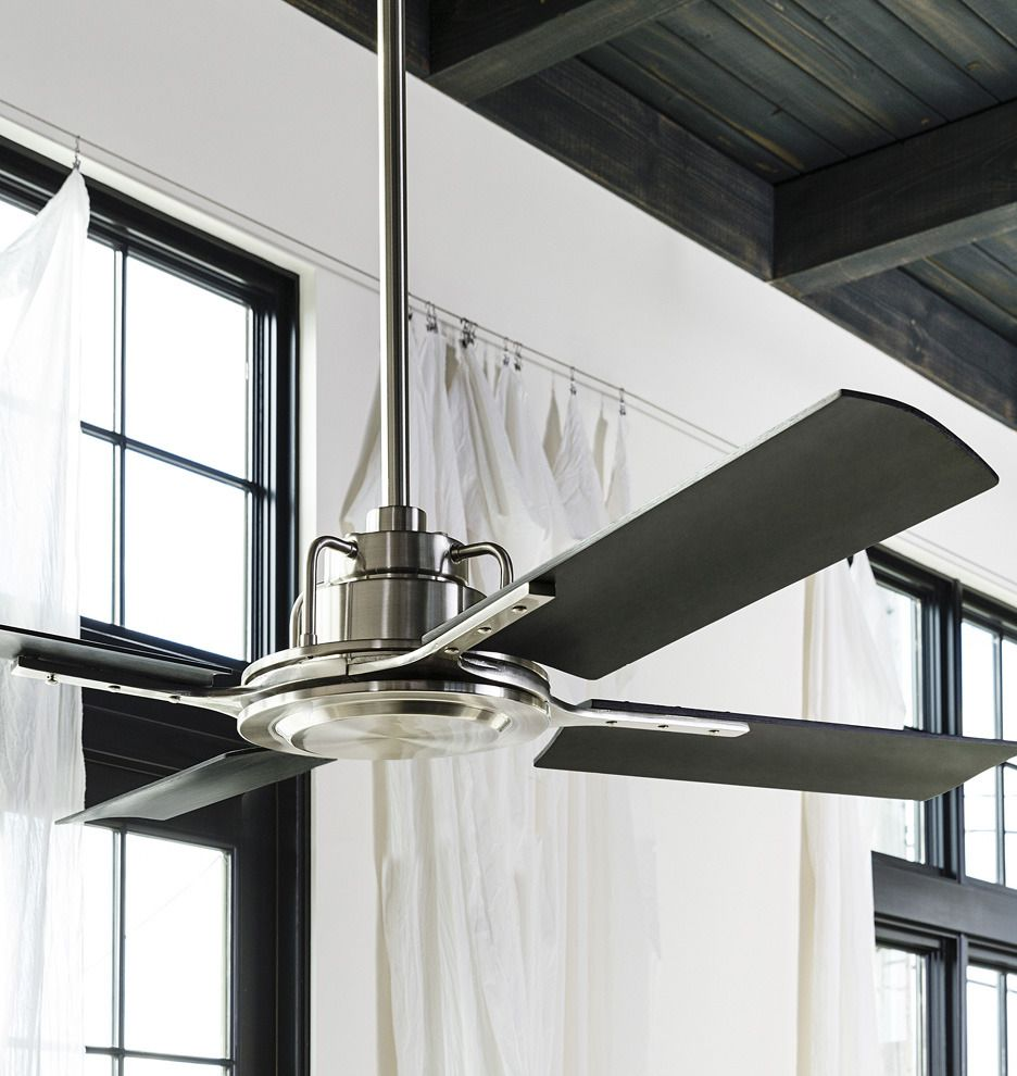 Peregrine Ceiling Fan Brushed Satin Black Blades Abs